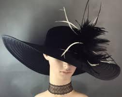 wide brim derby hat church hatdress hat black kentucky