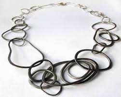 handmade chain necklace images Fade necklace irregular chain necklace statement sterling jpg