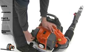 husqvarna backpack blowers starting instructions youtube