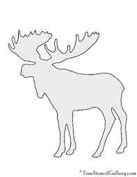 moose silhouette stencil free stencil gallery