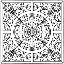 renaissance square panel clipart etc