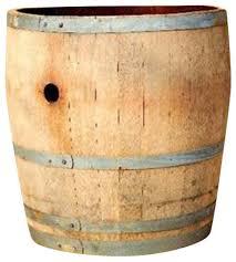 water tight oak wood tall wine barrel planter 26
