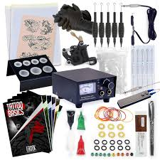 rehab ink complete tattoo kit w machine power supply needles 4