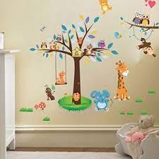 autocollant chambre bébé stickers chambre bebe jungle comparer 21 offres
