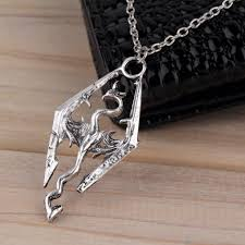 skyrim dragon pendant necklace images Elder scrolls skyrim dragon pendant necklace jpg