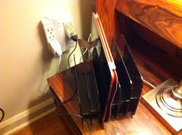 Build Your Own Charging Station Make Your Own Charging Station And Clear The Kitchen Counter
