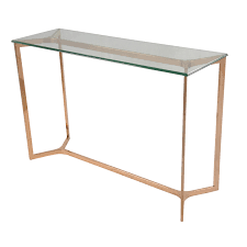 rose gold console table console table rg urban console table monza glass top rose gold