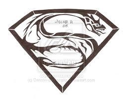 41 best superman tribal tattoo stencil images on pinterest