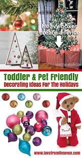 ideas for baby toddler pet proofing your tree and