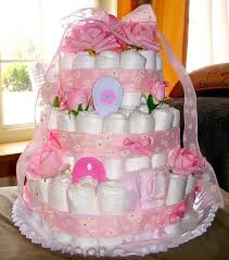 Diaper Cake Bathtub Shower Her With Love Baby Shower Gift Ideas Cac