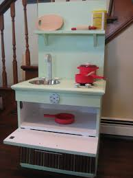 diy play kitchen from night stand pie birds buttons and muddy puddles