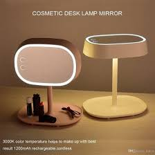 Cosmetic Mirror Newest 2 In 1 Make Up Mirror Desk Lamp Touch Switch Led Tabletop