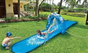backyard water slide groupon goods