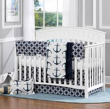 Nautical Bedspreads Baby Boy Room With Convertible Crib And Nautical Bedding