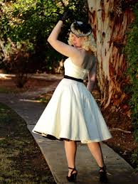 themed wedding dress vintage style tea length wedding dresses ivory 50s style