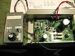 mc 2100 treadmill speed control circuit youtube
