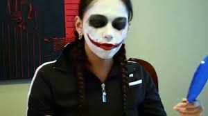 Female Joker Halloween by The Joker Makeup Tutorial Maquillaje Del Wason Para Halloween