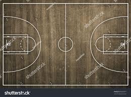 basketball court floor plan on dust stock illustration 90236077