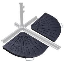 10 Ft Offset Patio Umbrella Outdoor 10 Ft Offset Umbrella Umbrella Weights Striped Patio
