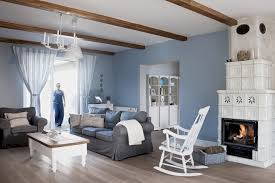 Home Decorating Country Style Blue And White Country Home In Poland Interior Design Files