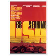 porsche poster vintage porsche sebring 1966 u2013 renard speed shop