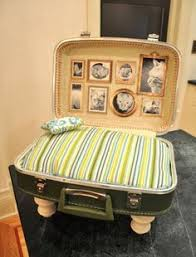 dog bed vintage suitcase 150 00 via etsy vintage
