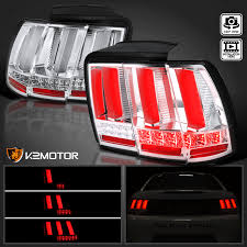mustang led tail lights 1999 2004 ford mustang led sequential clear tail lights