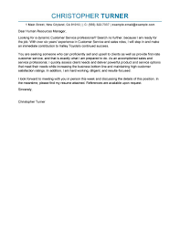 customer service cover letter best customer service cover letter exles livecareer