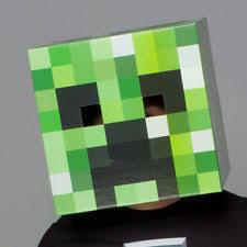 Minecraft Creeper Halloween Costume Brand Official Minecraft Cardboard Head Creeper Costume Mask