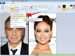 how to change the look of faces in microsoft paint 5 steps