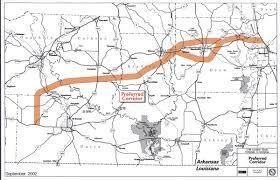 State Of Arkansas Map I 69 Shreveport Memphis