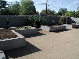 raised garden bed concrete block concrete raising and gardens