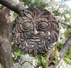 green man garden ornament wall plaque green man garden art