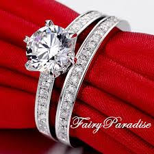 set rings round images 1 ct 6 5 mm bridal sets wedding ring set 1 carat round jpg