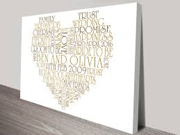 personalised canvas word art and wedding wall art gift ideas valentines day gift ideas