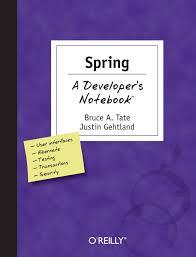 spring a developer u0027s notebook bruce tate justin gehtland