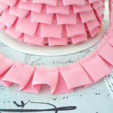 ribbon fabric by the 25m r0ll box pleat gathered trim fabric ribbon edging