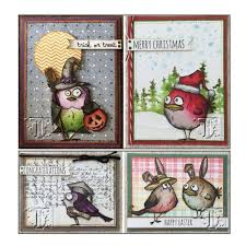 tim holtz cling mounted st set things cms237 thats