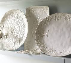 personalized serving plates juliette oversized serving platters pottery barn