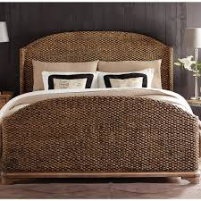 riverside bedroom furniture sherborne seagrass woven bed in toasted pecan humble abode