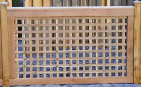 wood lattice wall wood fencing cedar fence contractors in chicagoland rustic fences