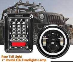 jeep back lights firebug wrangler jk tail lights jeep wrangler halo headlights