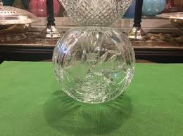 Star Vase Rose Bowl Vase U2013 Crystal Clear Cut Glass U2013 Whirling Star Pattern