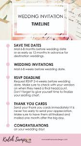 wedding invitations timeline wedding invitation timeline