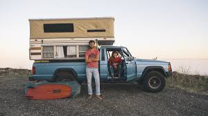 jeep comanche mountain bike campervans trucks bikes and the faces of the california roads