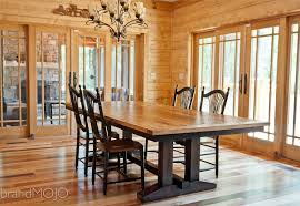 Barn Wood Wall Ideas by Dining Room Large Reclaimed Wood Dining Table With Wood Dining