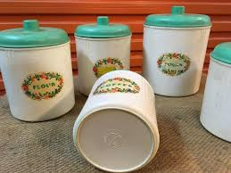 100 vintage retro kitchen canisters full set sears merry