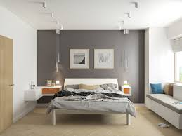 Purple Bedroom Feature Wall - bedrooms grey and white bedroom feature wall pops of orange