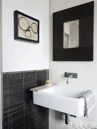 mirror ideas for bathroom bathroom with white tiles porcelain undermount sink mirror a black