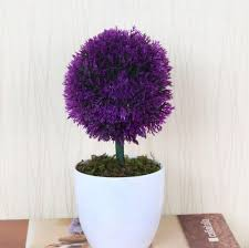 Artificial Plant Decoration Home Luyue Artificial Flower Plastic Tree Fake Green Plant With Vase